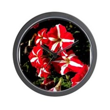 Candy Striped Petunias Wall Clock