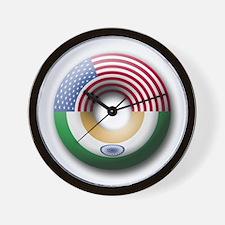 USA - India Wall Clock