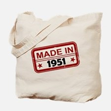 Stamped Made In 1951 Tote Bag