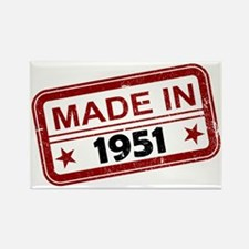 Stamped Made In 1951 Rectangle Magnet