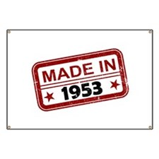 Stamped Made In 1953 Banner