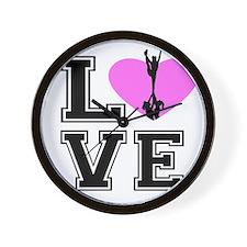 Love Cheerleading Wall Clock