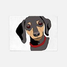 dachshund 5'x7'Area Rug