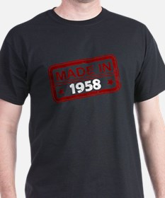 Stamped Made In 1958 T-Shirt