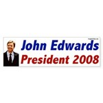 John Edwards for President 2008 bumper sticker