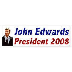 John Edwards for President 2008 bumper sticker