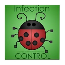 Funny Infection control Tile Coaster