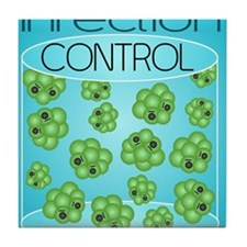 Cute Infection control Tile Coaster