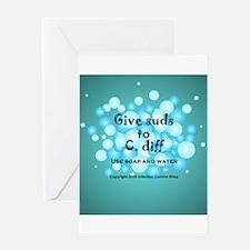Cute C. diff Greeting Card