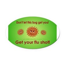 2-Flu Magnet green.png Oval Car Magnet