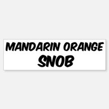 Mandarin Orange Bumper Bumper Bumper Sticker