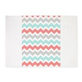 Chevron teal and coral Bedroom Décor