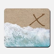 LETTERS IN SAND X Mousepad