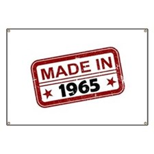 Stamped Made In 1965 Banner