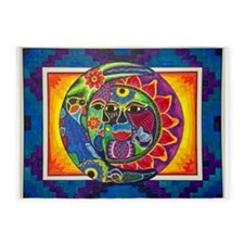 Mexican Sun and Moon 5'x7'Area Rug