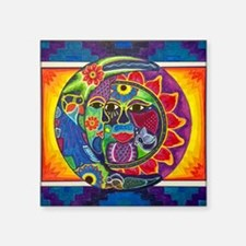 Mexican Sun and Moon Sticker