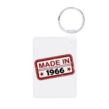 Stamped Made In 1966 Aluminum Photo Keychain