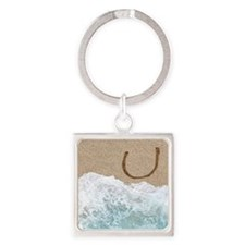LETTERS IN SAND U Keychains