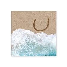 LETTERS IN SAND U Sticker