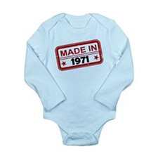 Stamped Made In 1971 Long Sleeve Infant Bodysuit