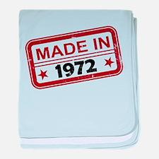 Stamped Made In 1972 Infant Blanket