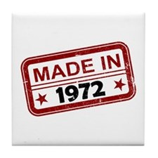 Stamped Made In 1972 Tile Coaster