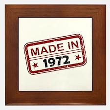 Stamped Made In 1972 Framed Tile