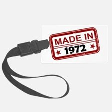 Stamped Made In 1972 Luggage Tag