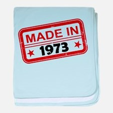Stamped Made In 1973 Infant Blanket