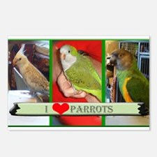' I Love Parrots' Postcards (Package of 8)