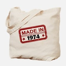 Stamped Made In 1974 Tote Bag