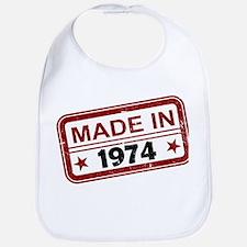 Stamped Made In 1974 Bib