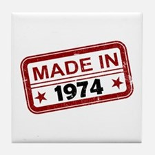 Stamped Made In 1974 Tile Coaster
