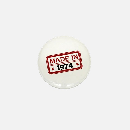 Stamped Made In 1974 Mini Button