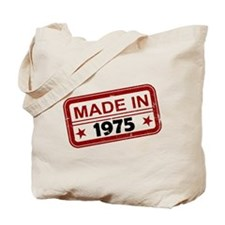 Stamped Made In 1975 Tote Bag