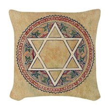 STAR OF DAVID Woven Throw Pillow