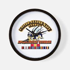 Navy - Seabee - Afghanistan Vet Wall Clock