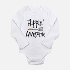 Flippin Awesome Cookin Long Sleeve Infant Bodysuit