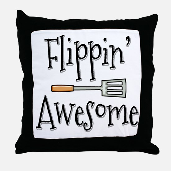 Flippin Awesome Cooking Throw Pillow
