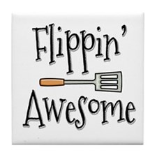 Flippin Awesome Cooking Tile Coaster