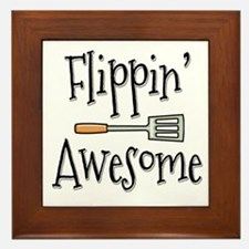 Flippin Awesome Cooking Framed Tile