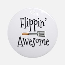 Flippin Awesome Cooking Ornament (Round)