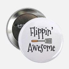 """Flippin Awesome Cooking 2.25"""" Button"""