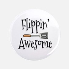 """Flippin Awesome Cooking 3.5"""" Button"""