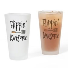 Flippin Awesome Cooking Drinking Glass