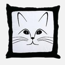 CAT FACE Throw Pillow