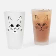 CAT FACE Drinking Glass