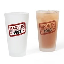 Stamped Made In 1983 Drinking Glass