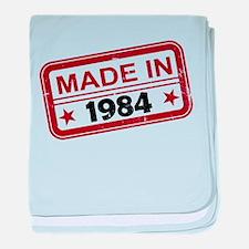 Stamped Made In 1984 Infant Blanket