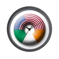 USA - Ireland Wall Clock